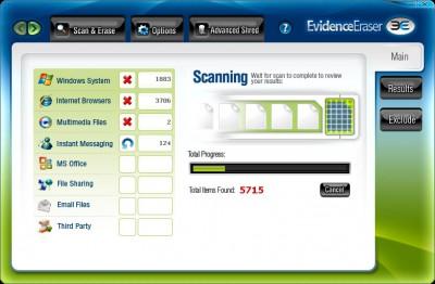 Evidence Eraser 2012.07 screenshot