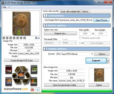 EvJO Photo-Image Resizer 3.0 screenshot