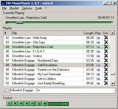 EW-MusicPlayer 0.8 screenshot