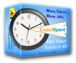 ExactSpent Time Tracking Software 2006 screenshot