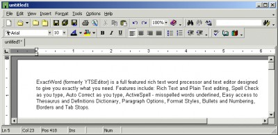 ExactWord 5.2.5b screenshot
