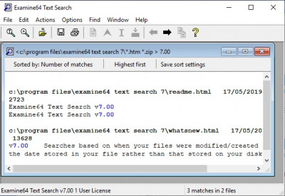Examine32/Examine64 Text Search 7.00 screenshot