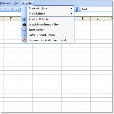 Excel Absolute Relative Reference Change Software 7.0 screenshot