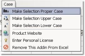 Excel Change Case to Proper, Upper & Lower Softwar 7.0 screenshot