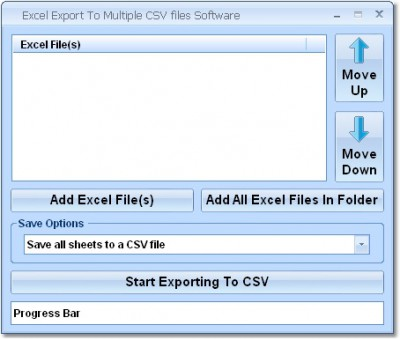 Excel Export To Multiple CSV Files Software 7.0 screenshot