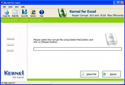 Excel File Repair 4.03 screenshot