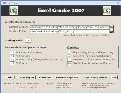 Excel Grader 2.7 screenshot