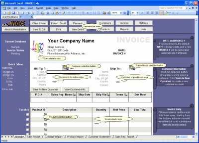 Excel Invoice Manager Enterprise 2.5.1008 screenshot