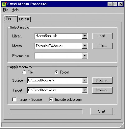 Excel Macro Processor 1.4 screenshot