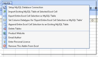 Excel MySQL Import, Export & Convert Software 7.0 screenshot