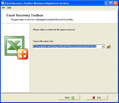 Excel Recovery Toolbox 2.1.3 screenshot