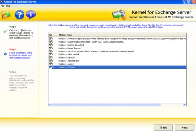 Exchange EDB Recovery 10.10.01 screenshot