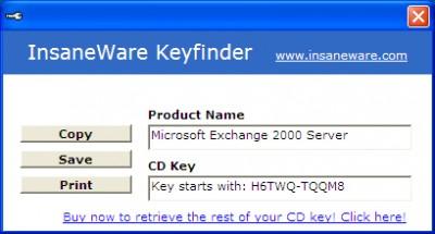 Exchange Keyfinder 1.0.0 screenshot