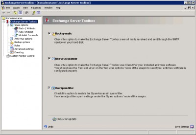 Exchange Server Toolbox 5.8.2 screenshot