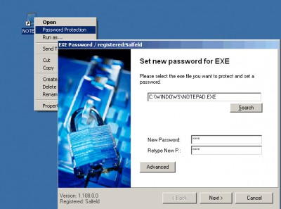 Exe Password 2004 screenshot