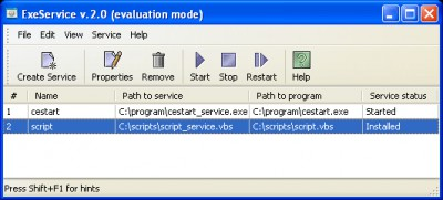 Exe To Service 2.0 screenshot