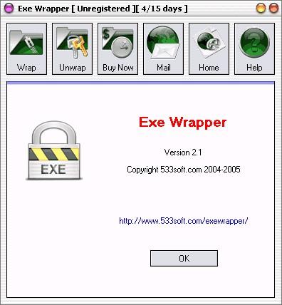 Exe Wrapper 4.3885 screenshot