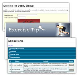 Exercise Tip Email Buddy 1.3 screenshot