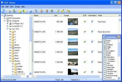 EXIFViewer 1.2 screenshot