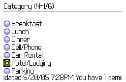 Expense Recorder for BlackBerry 1.2 screenshot