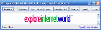 Explore Internet World Client 1.0 0 screenshot