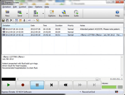 Express Dictate Dictation Recorder 5.60 screenshot