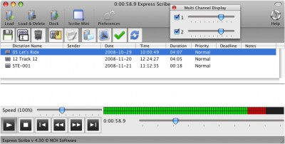 Express Scribe Free Transcription Mac 5.70 screenshot