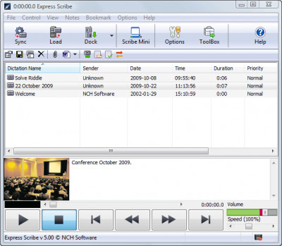 Express Scribe Transcription Player 6.00 screenshot