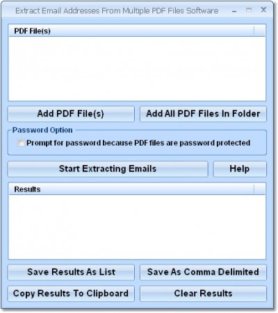 Extract Email Addresses From Multiple PDF Files So 7.0 screenshot