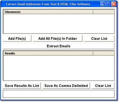 Extract Email Addresses From Text & HTML Files Sof 7.0 screenshot
