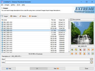Extreme Thumbnail Generator 2.1 screenshot