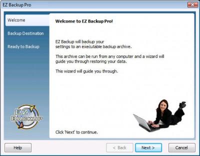 EZ Backup IncrediMail Pro 4.0 screenshot