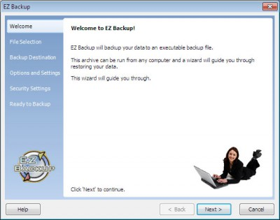 EZ Backup QuickBooks Pro 6.42 screenshot