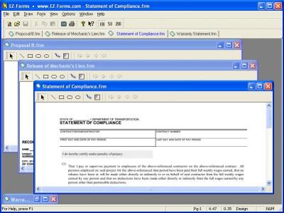 EZ-Forms-Contractor 5.50.ec.22 screenshot