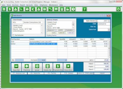 Ezi Accounting 2.1.48 screenshot