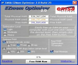 EZMem Optimizer 2.0.26 screenshot