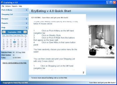 EzyEating 4.00.0026 screenshot