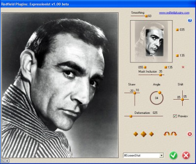 Face Control plug-in 2.00 screenshot