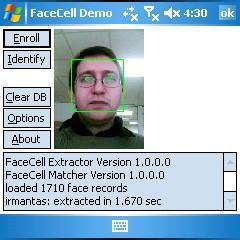FaceCell EDK Trial 1.1 screenshot