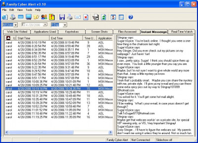 Family Cyber Alert 4.18 screenshot