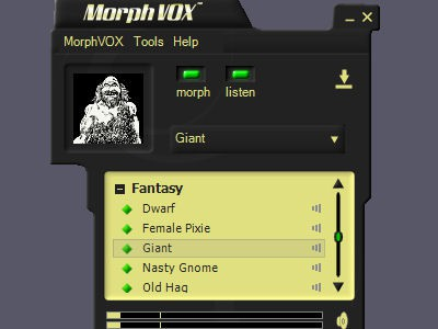 Fantasy Voices - MorphVOX Add-on 1.3.2 screenshot