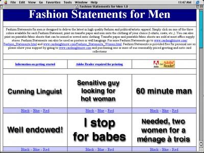 Fashion Statements for Men 1.0 screenshot