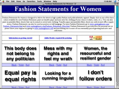 Fashion Statements for Women 1.0 screenshot