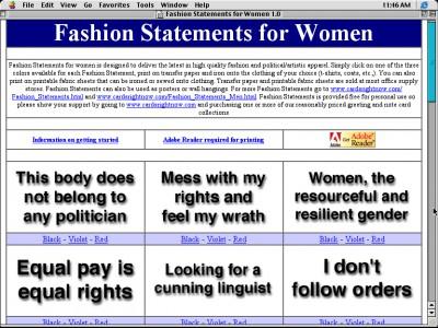 Fashion Statements for Women 1.0 screenshot