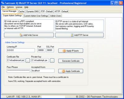 Fastream NETFile FTP/Web Server 8.3.0 screenshot