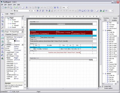 FastReport Studio 4 4.8 screenshot