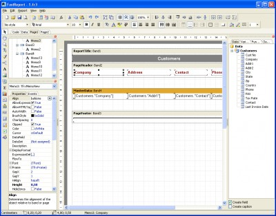 FastReport 5.2 screenshot