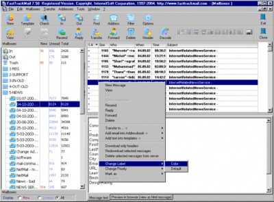 FastTrack Mail Light 8.80 screenshot