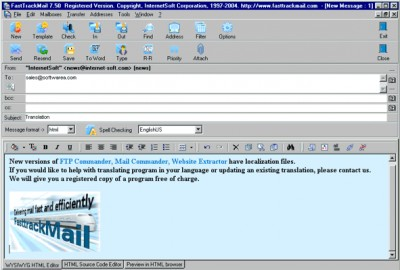 FastTrackMail 8.60 screenshot