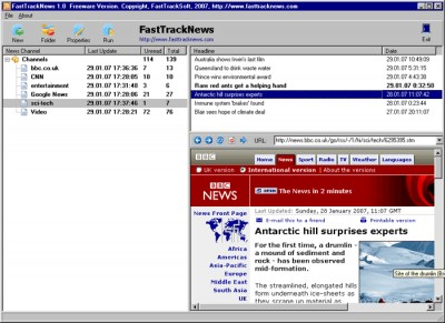 FastTrackNews 2.0 screenshot